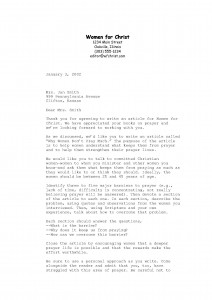 assignment letter
