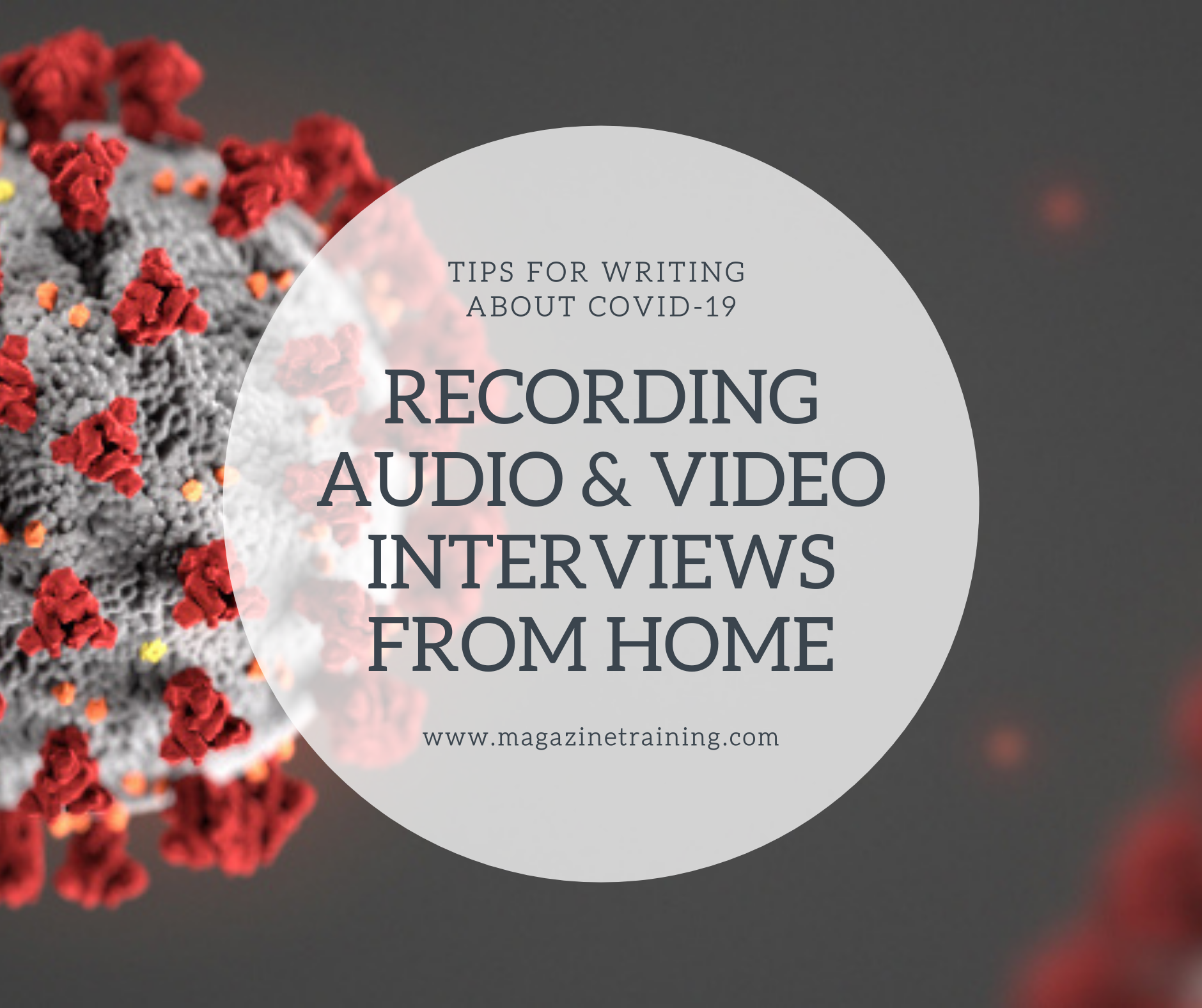 recording audio and video interviews from home
