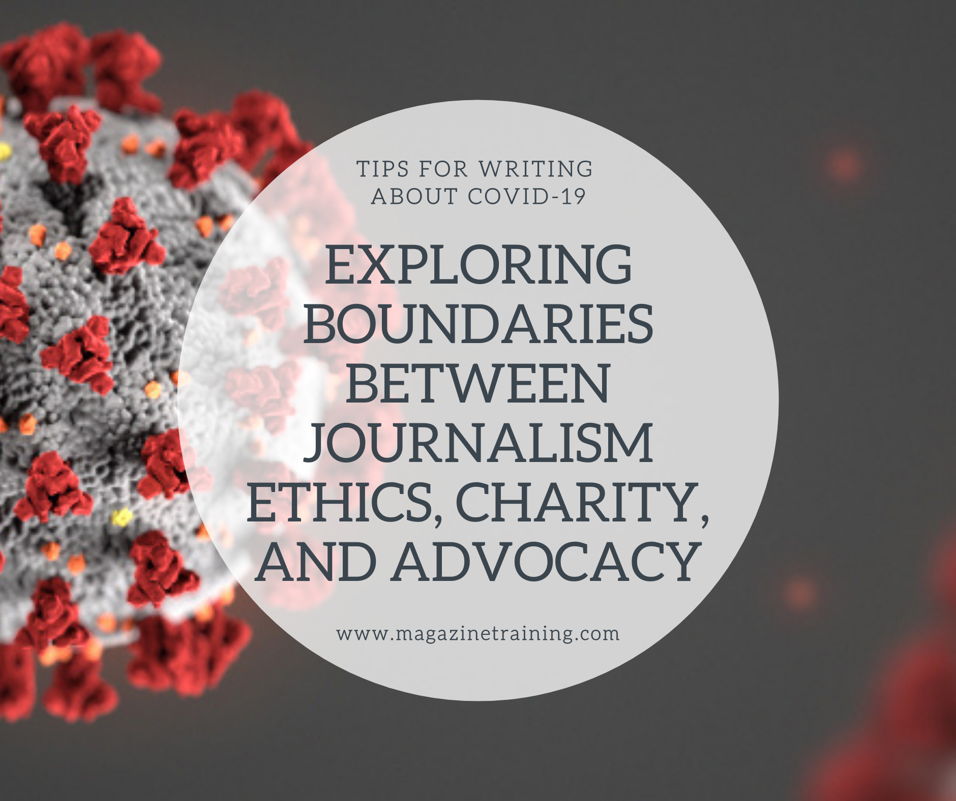 journalism ethics, charity, and advocacy