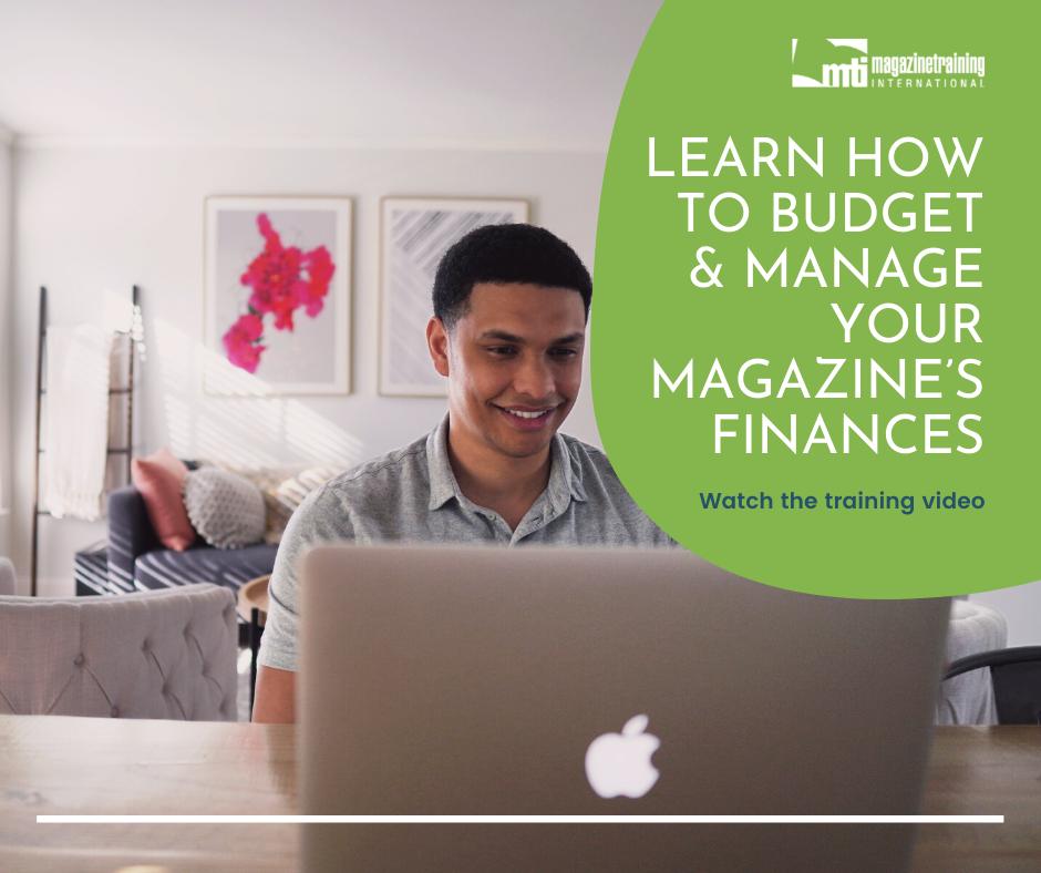 manage your magazine's finances