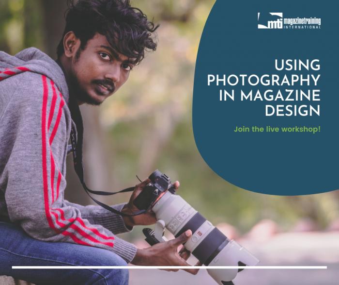 photography in magazine design