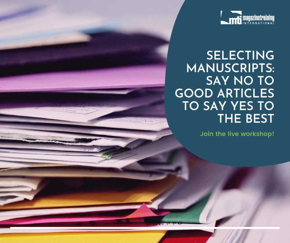 selecting manuscripts
