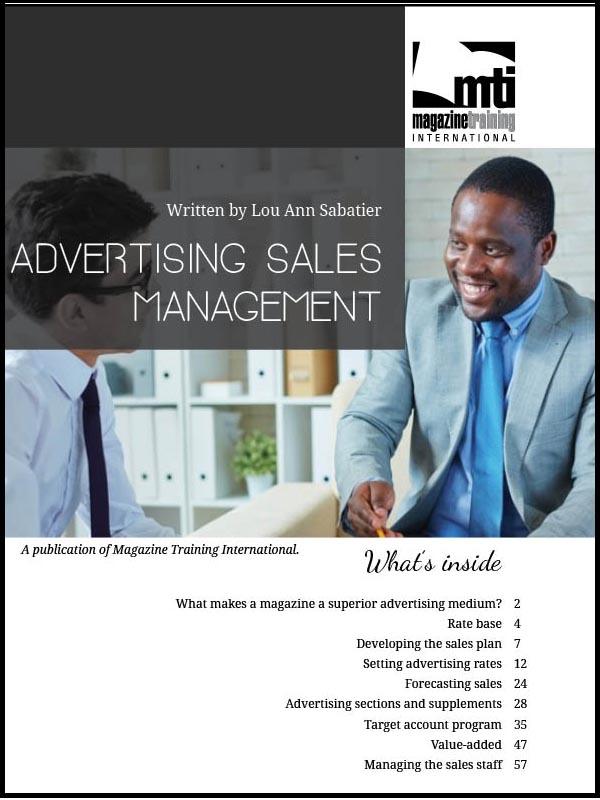 Advertising sales management