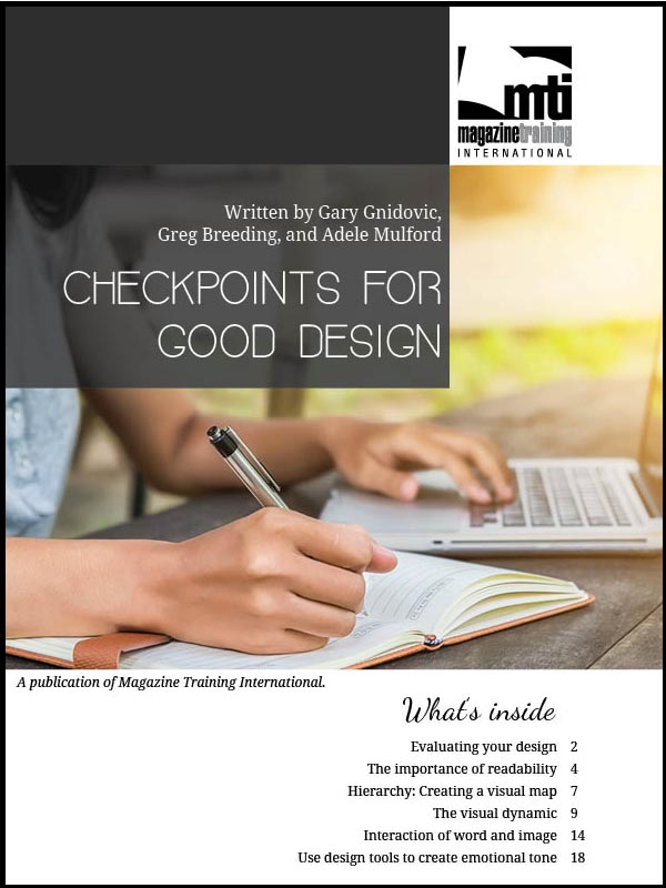 checkpoints for good design