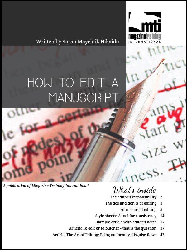 edit a manuscript