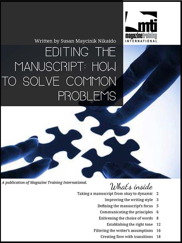 editing the manuscript