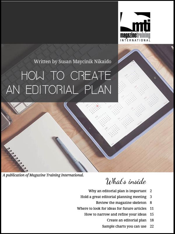 editorial plan