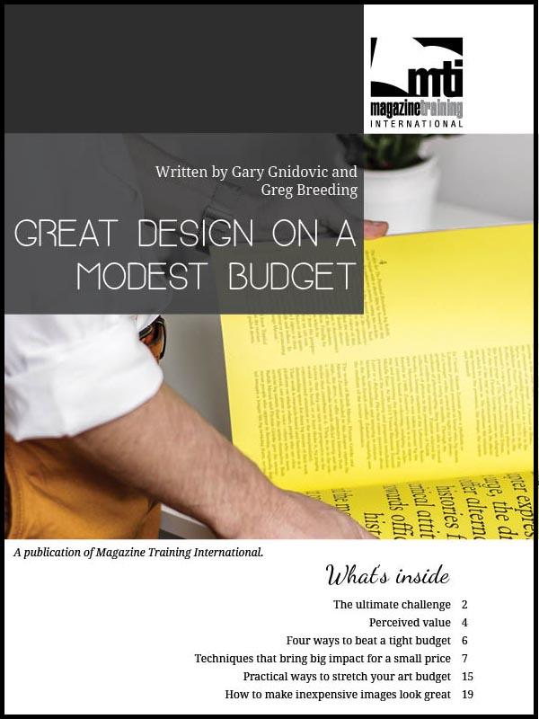 design on a modest budget