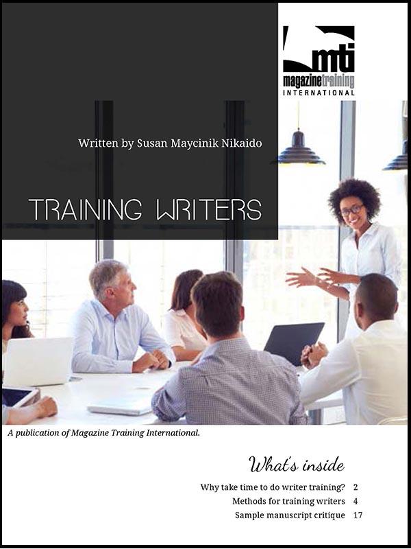 training writers