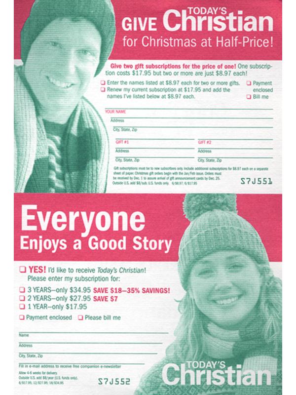 single-magazine bind-in cards