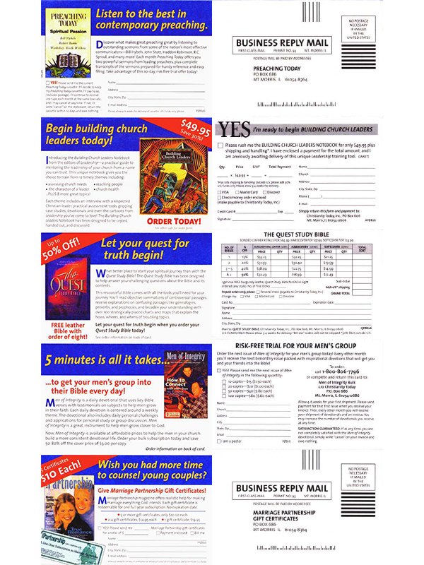 multiple-magazine package inserts