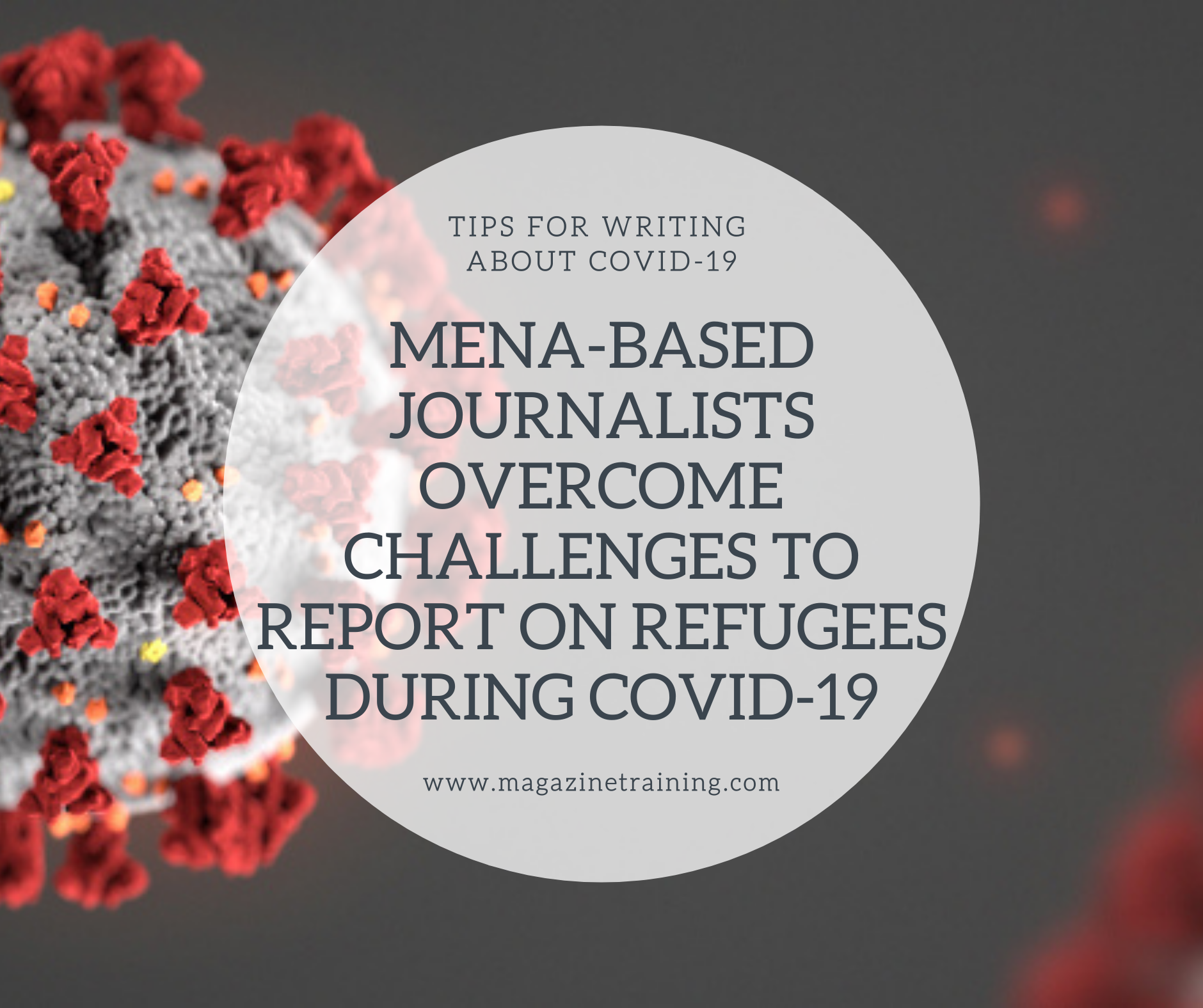 reporting on refugees during COVID-19