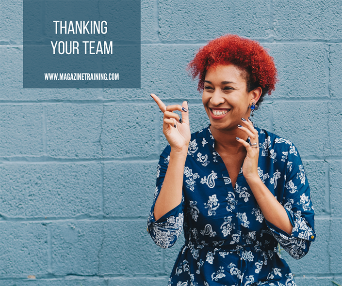 thanking your team