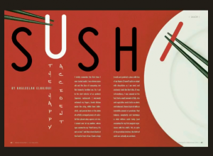 Use great typography to improve magazine design.